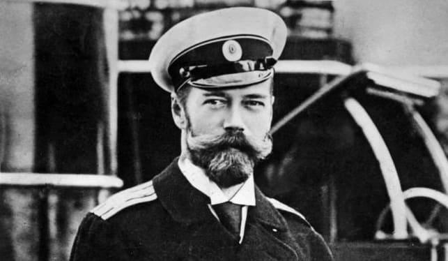 Император Николай II в морской форме