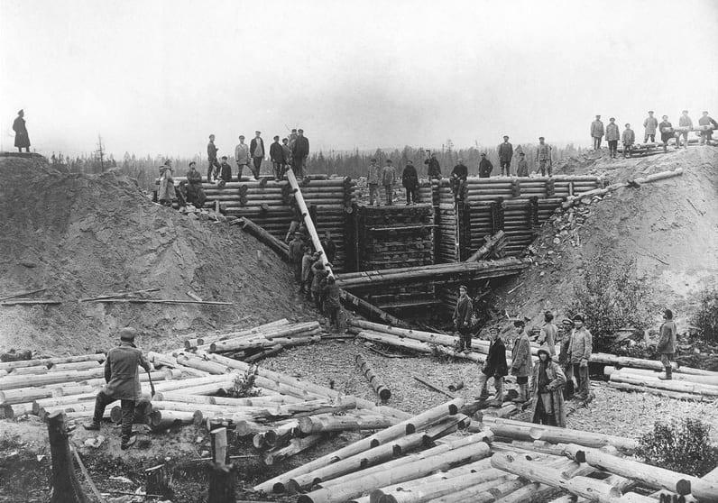 Строительство Мурманской железной дороги