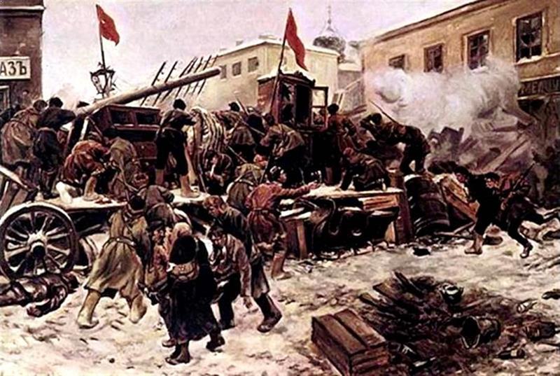 На баррикаде. 1905 год