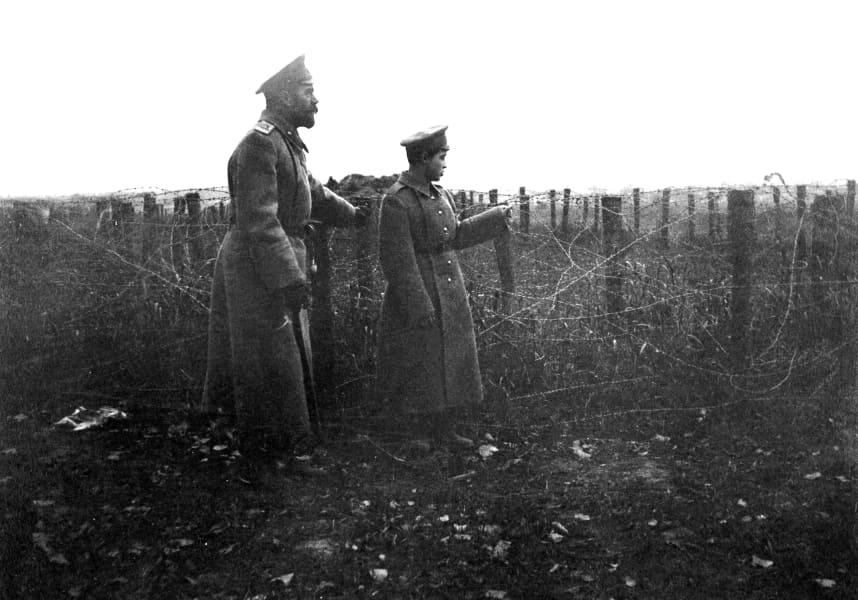 Главковерх Николай II на фронте вместе с сыном